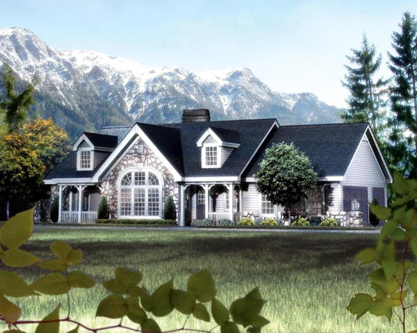 One Level House Plans Wrap Around Porch