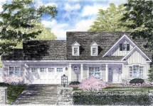 House Plan 94185 Cape Colonial Cottage Country Ranch