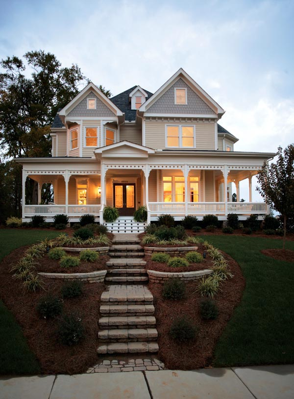 Country Farmhouse Victorian House Plan 95560