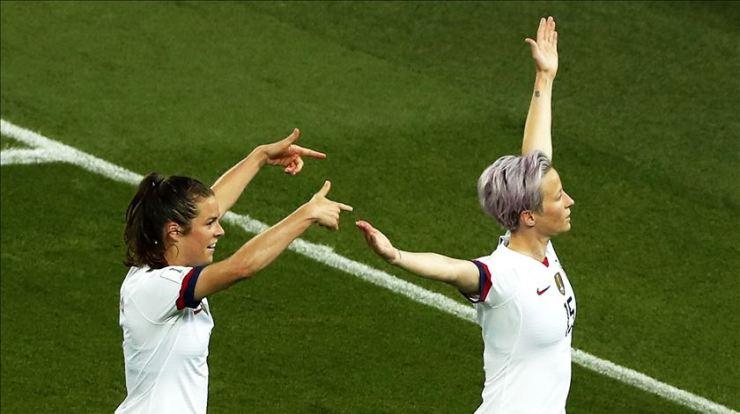 Megan Rapinoe é uma das estrelas da seleção dos EUA. Foto: Ian Langsdon/EPA