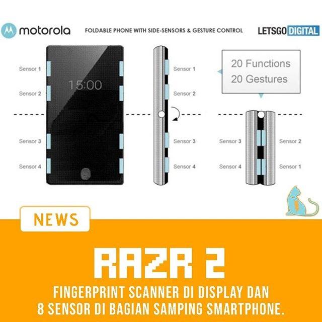 Motorola di Razr 2 Dengan Sensor Sentuh di Tepinya