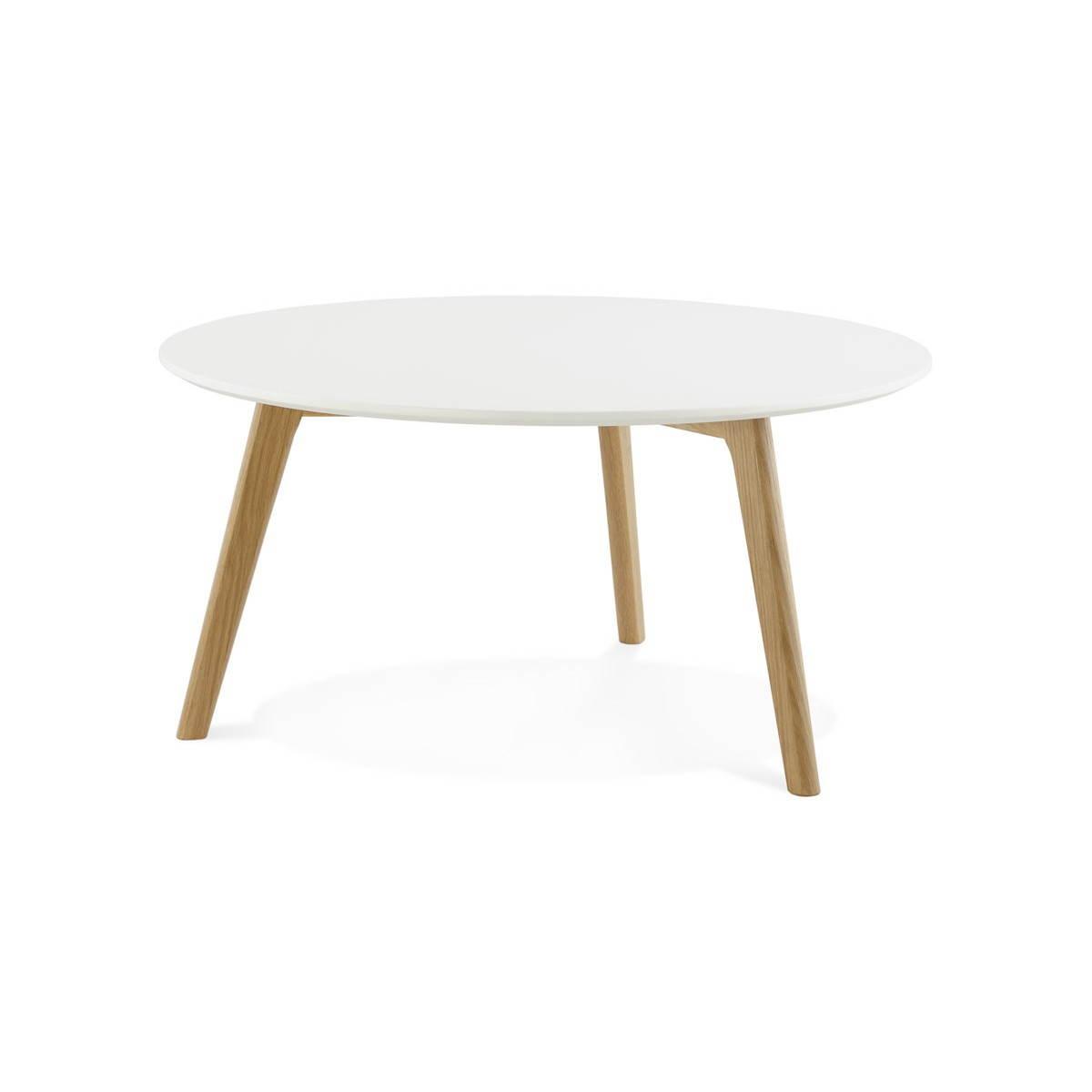 table basse scandinave tarot en bois et chene massif blanc amp story 3763