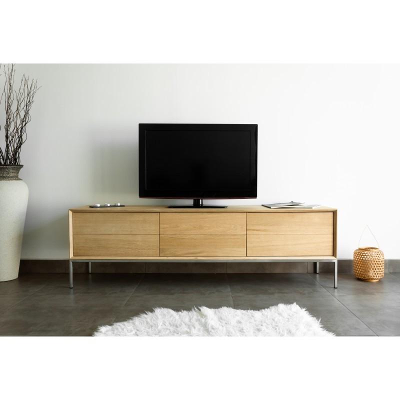 mobel design niedrige tv 2 schubladen 1 tur jason massiver eiche eiche natur jason essen