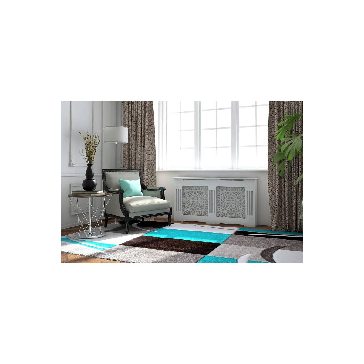 living room rug modern and frieze 200 x 280 cm modern friesland superverso grey turquoise amp story 4709