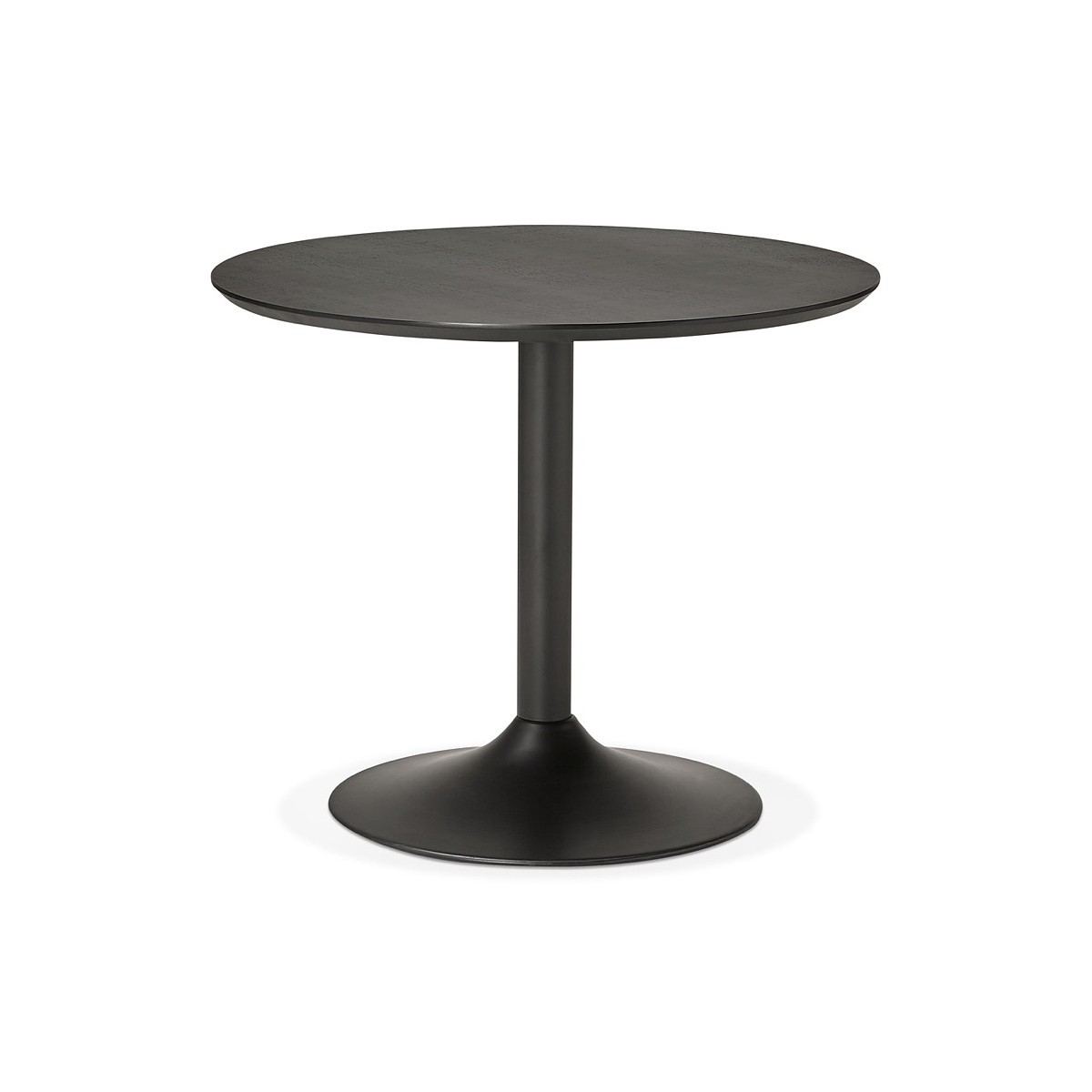table round dining design or office maud in mdf and painted metal o 90 cm black amp story 5755