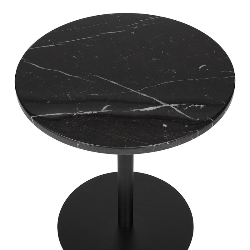 roxane black round marble design side table low tables
