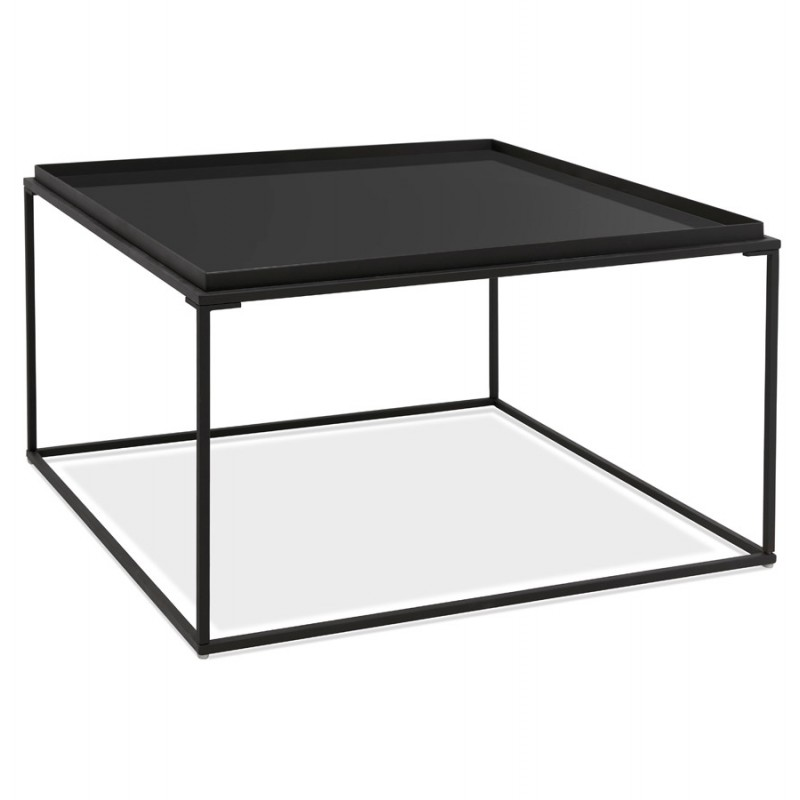 raquel glass and metal design coffee table black low tables