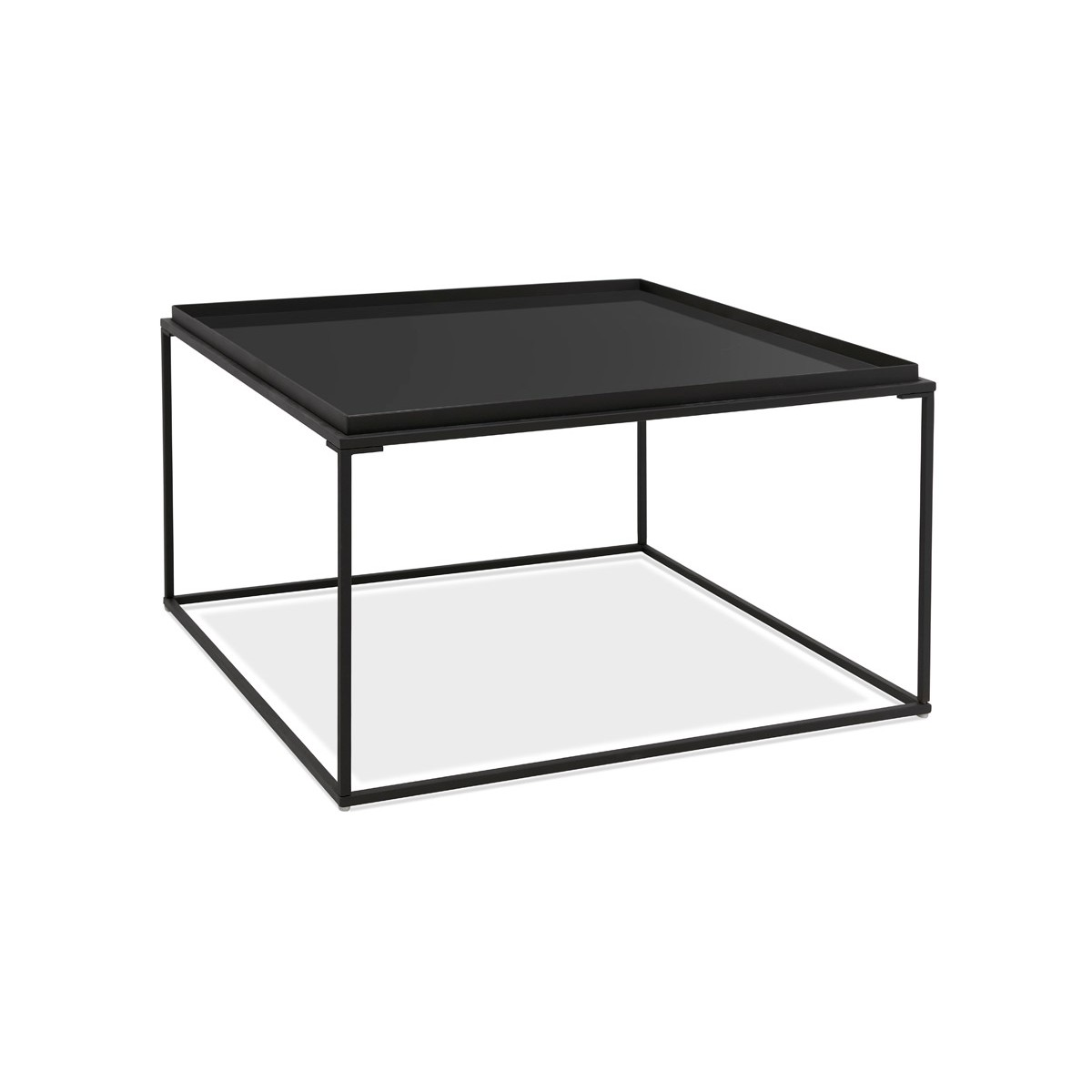 design coffee table in glass and metal