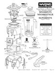Waring MX1000XTX Xtreme 3 1/2 hp Commercial Blender with