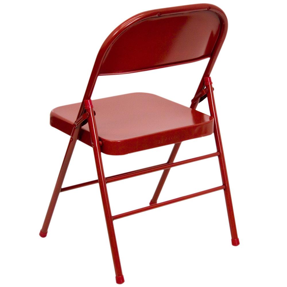 Flash Furniture HF3MC309ASREDGG Red Metal Folding Chair