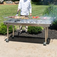 """Backyard Pro CHAR60SS 60"""" Stainless Steel Charcoal Grill ..."""
