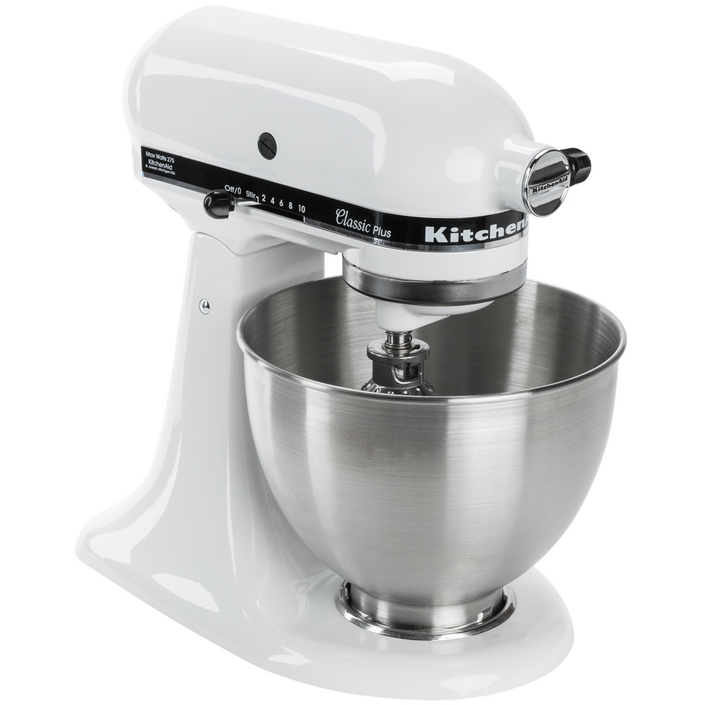KitchenAid K45SBWH Stainless Steel 45 Qt Mixing Bowl With Handle For Stand Mixers