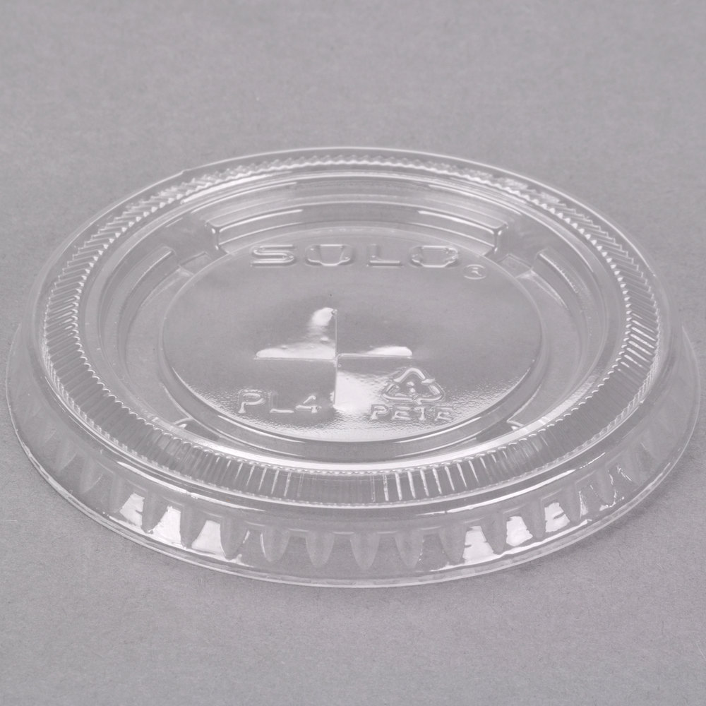 Dart Solo UltraClear PL4TSN Clear PET Plastic Lid with