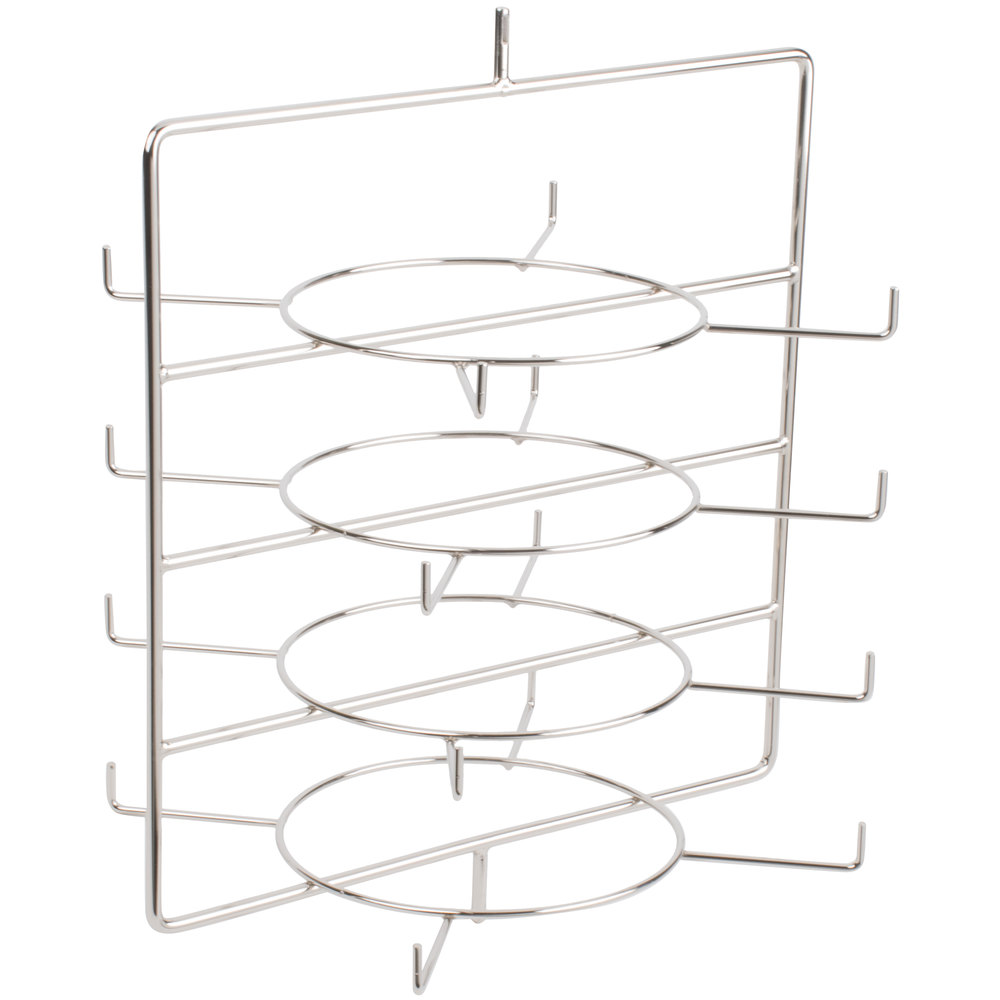 Hatco FSDT4TCR 4-Tier Circle Display Rack With Pizza Pan