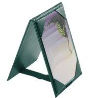 "Menu Solutions TT067A GRN 4"" x 6"" A-Frame / Two View Green ..."