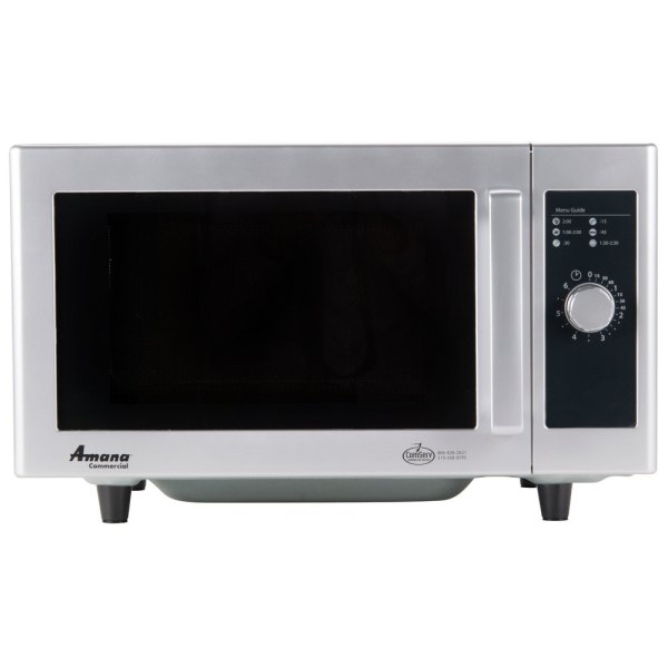 Amana Rms10ds Stainless Steel Commercial Microwave With