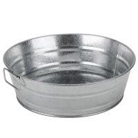 "American Metalcraft MTUB10 10"" x 3"" Round Galvanized Metal Tub"