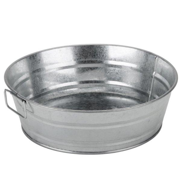 Round Galvanized Metal Tub