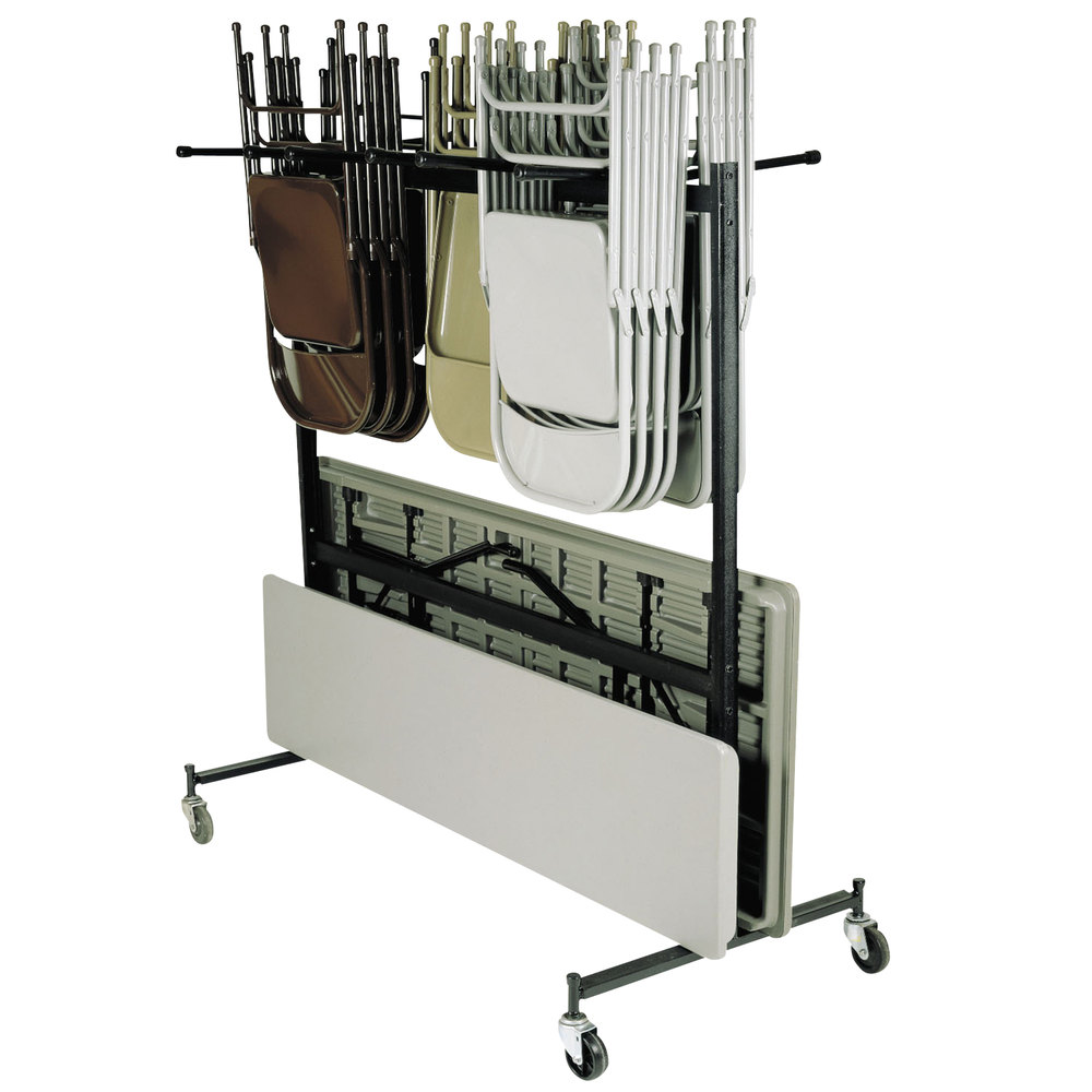 folding chair dolly 50 capacity covers and sashes for weddings carts national public seating 42 8 60 table coat storage