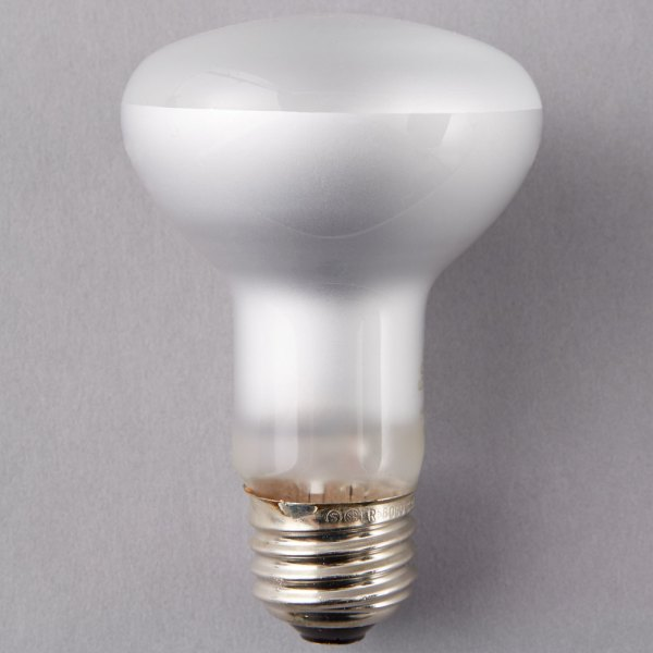 Satco S4514 45 Watt Warm White Frosted Halogen Flood Lamp Light Bulb - 120v R20
