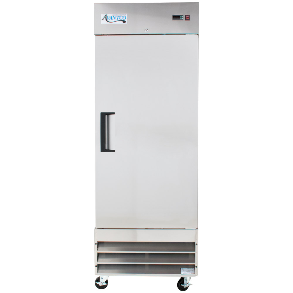 hight resolution of 115 volts avantco a 19f hc 29 inch solid door reach in freezer