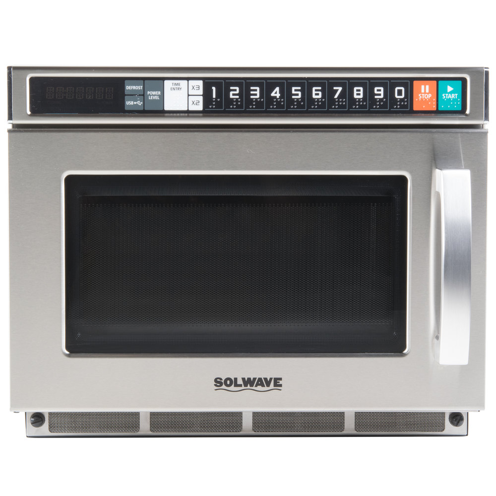 types of commercial microwaves wattage