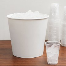 Lavex Lodging 10 Lb. White Disposable Paper Ice Bucket