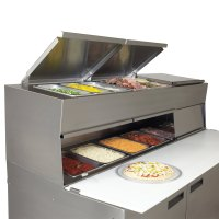 "Delfield 18672PDL 72"" Two Door Refrigerated Pizza Prep ..."