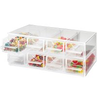 "Cal-Mil 287 Eight Drawer Topping Dispenser - 13"" x 8"" x 5"""