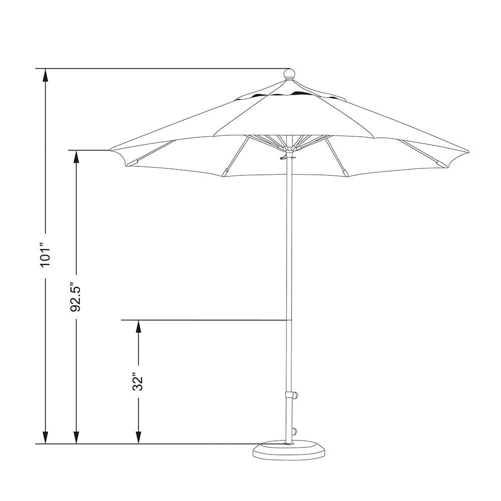 California Umbrella EFFO 908 SUNBRELLA 2A Oceanside 9