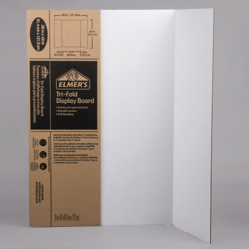 Elmers 730300 24 x 36 White TriFold Corrugated Display