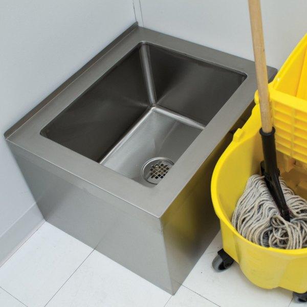 "Advance Tabco 9-op-48 20"" X 28"" 12"" Floor Mounted Mop Sink"