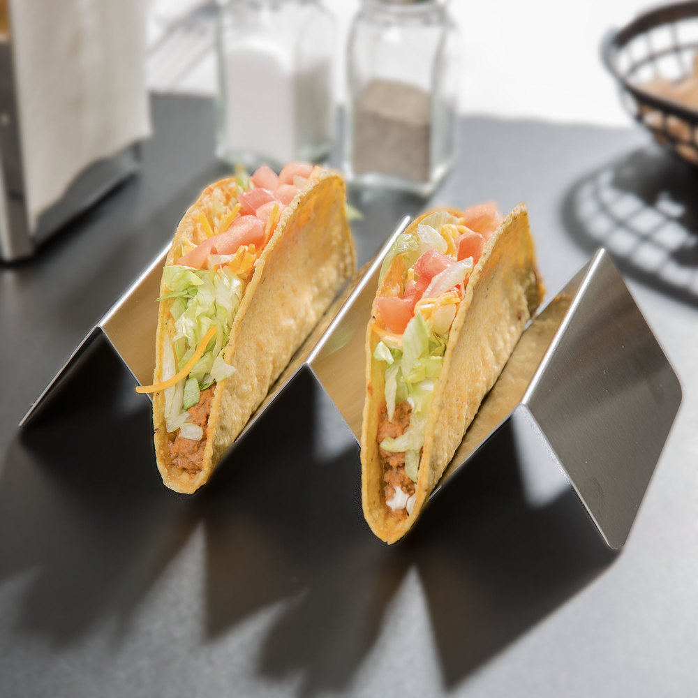 Stainless Steel Taco Holder with 2 or 3 Compartments