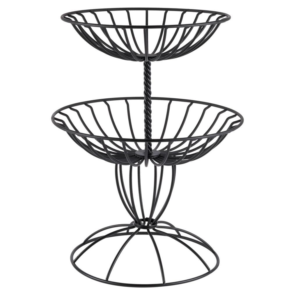 American Metalcraft TTDB2 Wrought-Iron, Two-Tier Basket