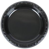 """Genpak BLK07 Silhouette 7"""" Black Premium Plastic Plate ..."""