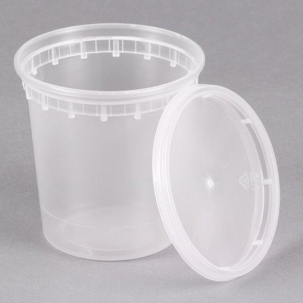 24 Oz. Microwavable Translucent Plastic Deli Container