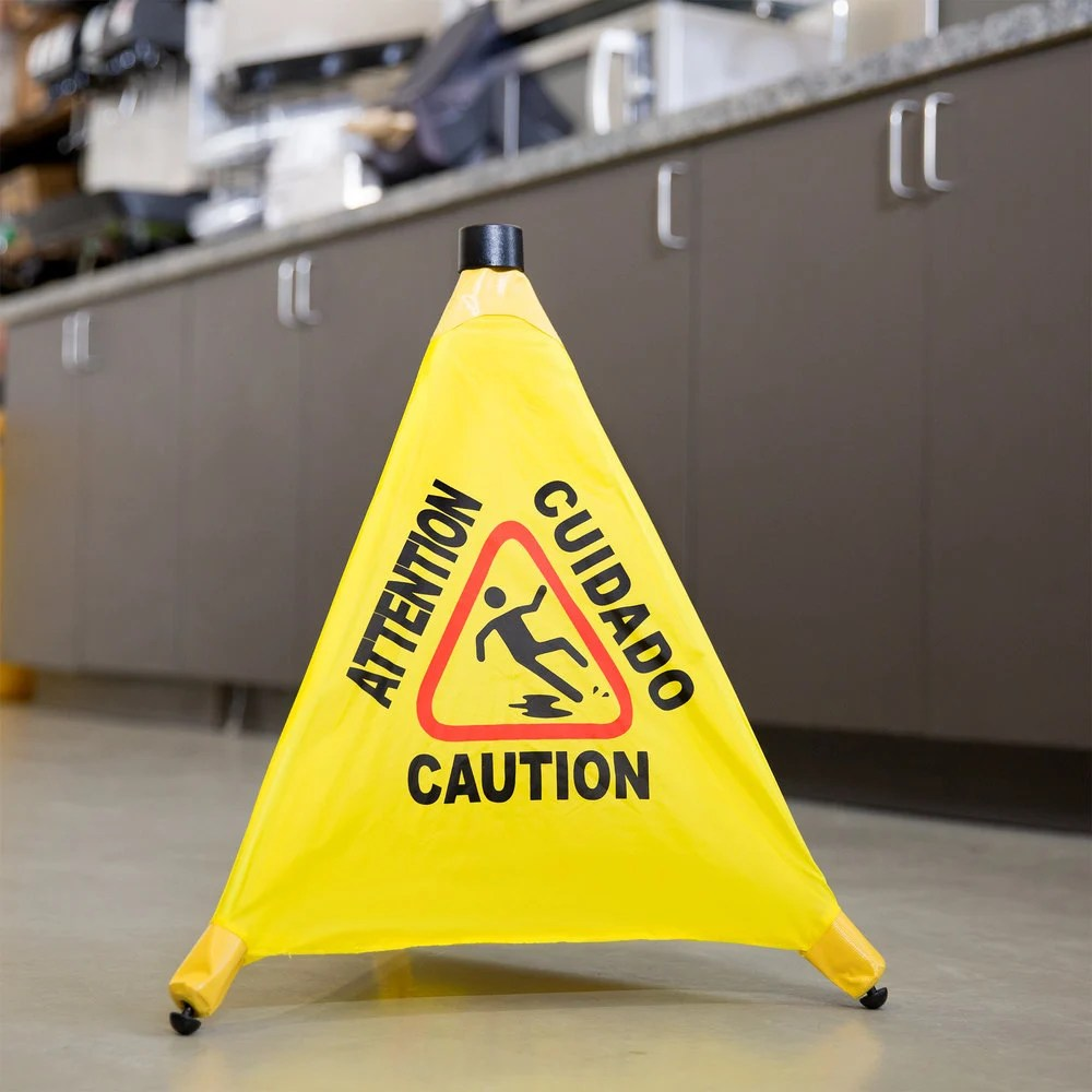 20 PopUp Safety Cone Wet Floor Sign