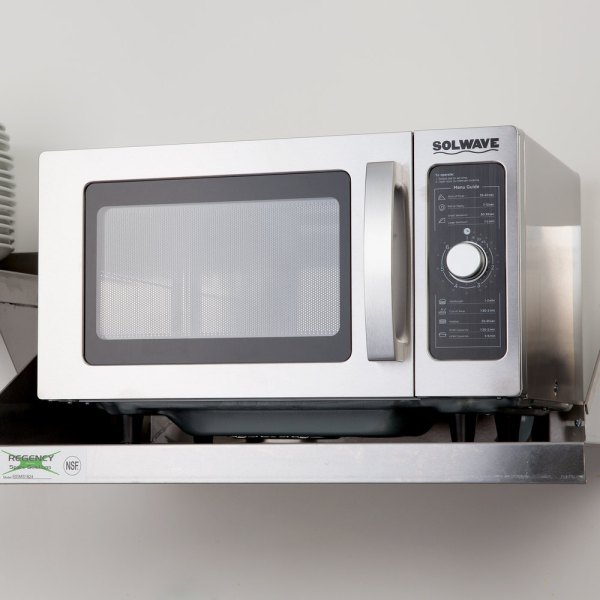 Solwave Stainless Steel Commercial Microwave With Dial