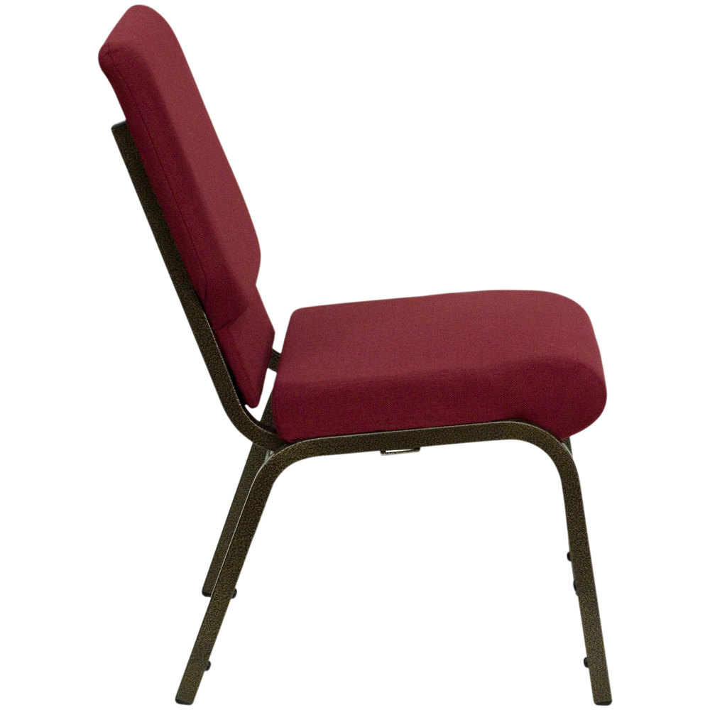 Flash Furniture XUCH60096BYGG Burgundy 18 12 Wide Church Chair with Gold Vein Frame
