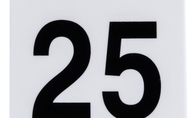 Get Num 1 25 Numbers 1 Through 25 Table Tent Number