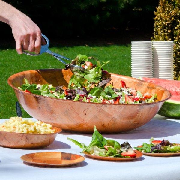18quot Woven Wood Salad Bowl