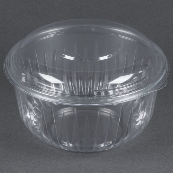 Dart Solo C48bcd Presentabowls 48 Oz. Clear Plastic Bowl With Dome Lid - 126 Case
