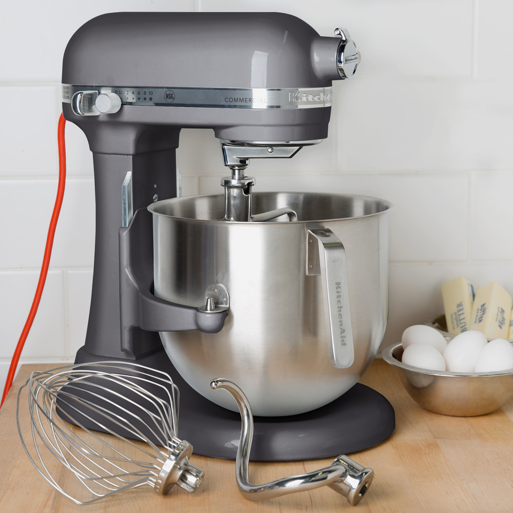 Pewter KitchenAid 8 qt Commercial Mixer KSM8990DP  WebstaurantStore