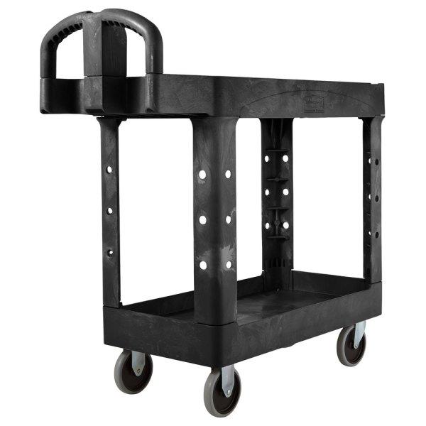 Rubbermaid Fg450088bla Black Small Two Lipped Shelf