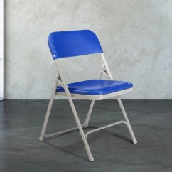 Blue Metal Folding Chairs Chair Cover Hire Middlesex National Public Seating 805 Gray With Image Preview