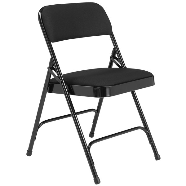 folding chair fabric sturdy dining room chairs national public seating 2210 black metal with 1 4 main picture