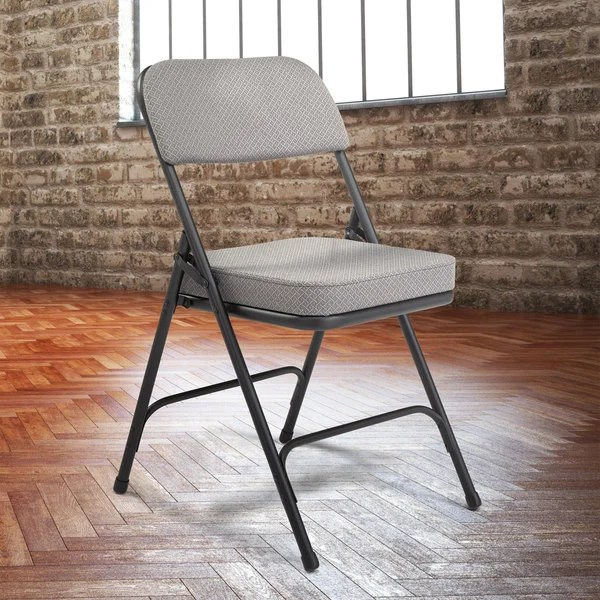 cloth padded folding chairs swivel bucket national public seating 3212 black metal chair with 2 image preview