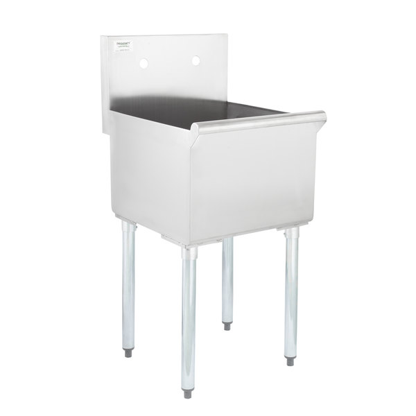 regency 18 16 gauge stainless steel one compartment commercial utility sink 18 x 18 x 13 bowl