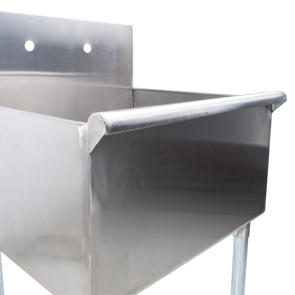 regency 24 16 gauge stainless steel one compartment commercial utility sink 24 x 24 x 14 bowl