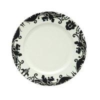Damask Plastic Plates & WNA Comet CW10144W Classicware 10 ...